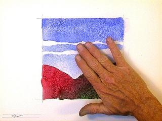 Потрите рисунок рукой...