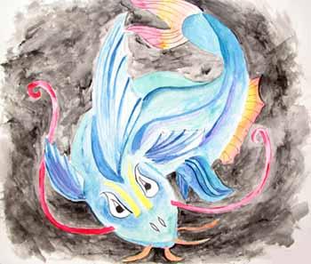 Рисуем китайского дракона