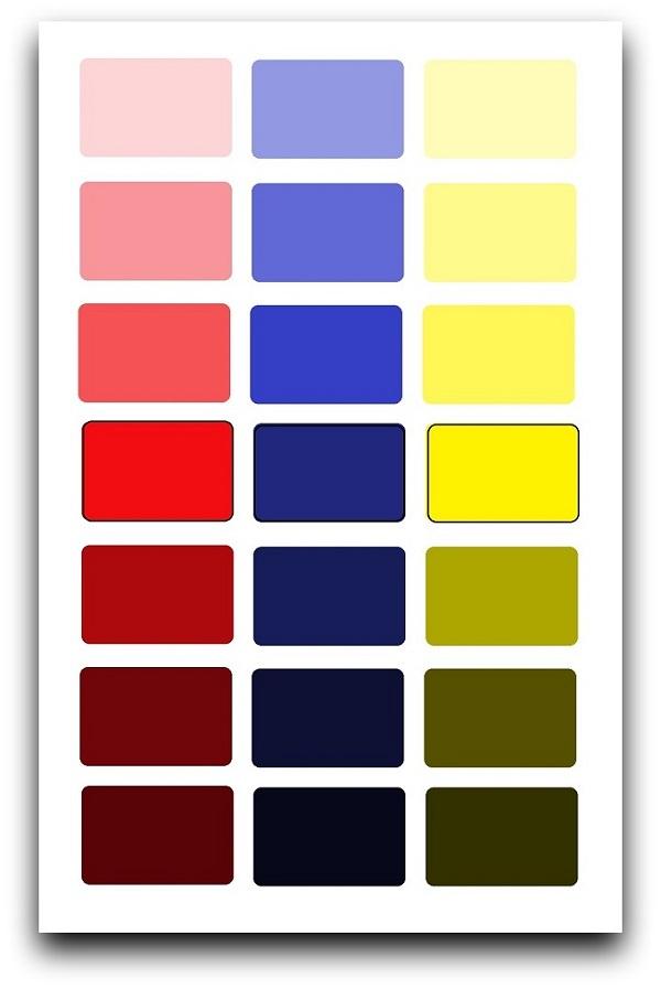 Начальные знания по цветоведению
