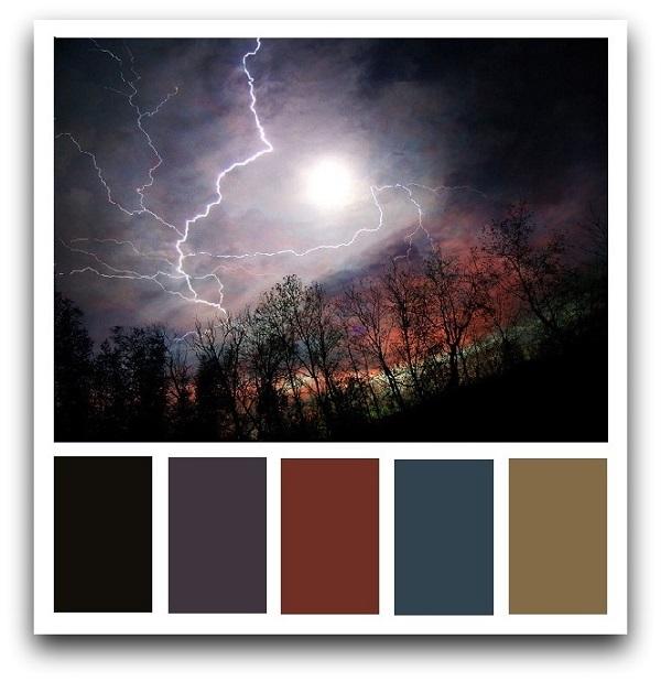 Как пастельные и как приглушенные темные цвета выглядят в природе