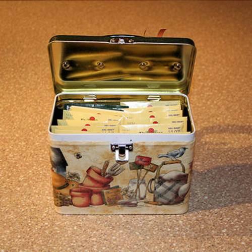 Декупаж коробочки для семян