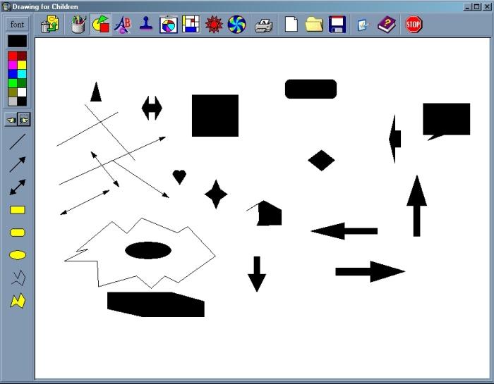Геометрические фигуры и векторные линии