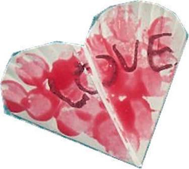 Открытка в виде сердца из бумажной тарелки, поделка. Лиз, Вирджиния