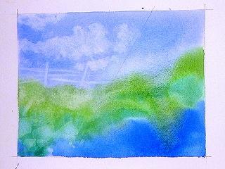 Готовый рисунок, выполненный в технике высветления фрагментов