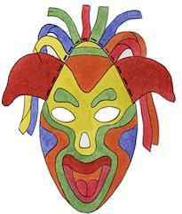 Разноцветные бумажные маски