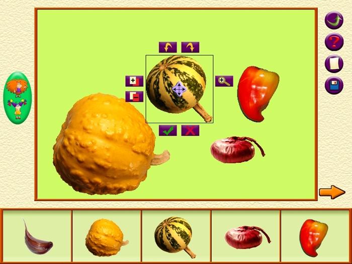 Рисунок из продуктов питания