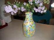 Цветная мозаичная ваза