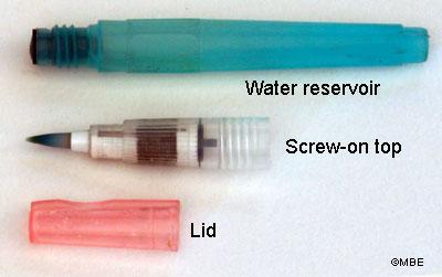 Водяные кисточки используются специально для работы с акварелью