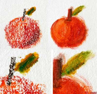 Рисование акварельными карандашами