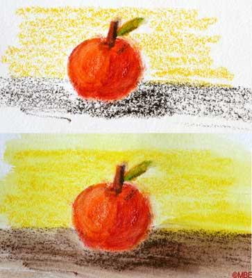 Вы можете использовать любое количество слоев краски при рисовании акварельными карандашами