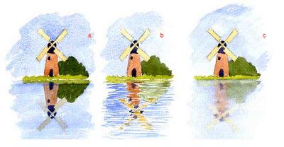 3 способа нарисовать отражение в воде
