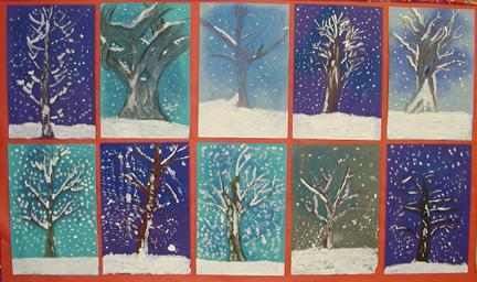 Можно со временем нарисовать несколько разных деревьев на бумаге разного цвета и соединить их в один волшебный лес