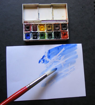 Рисунок воском проявляется