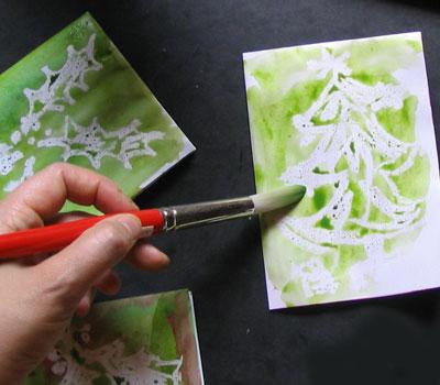 Открытки своими руками: рисуем по воску