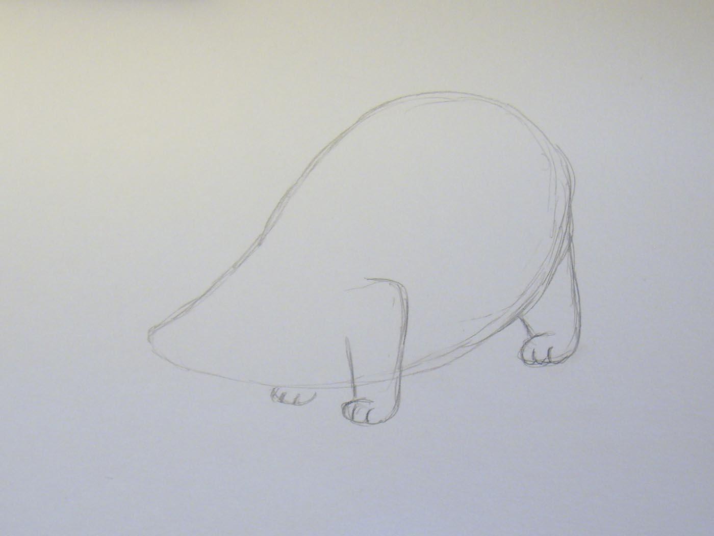 Рисовать барсука