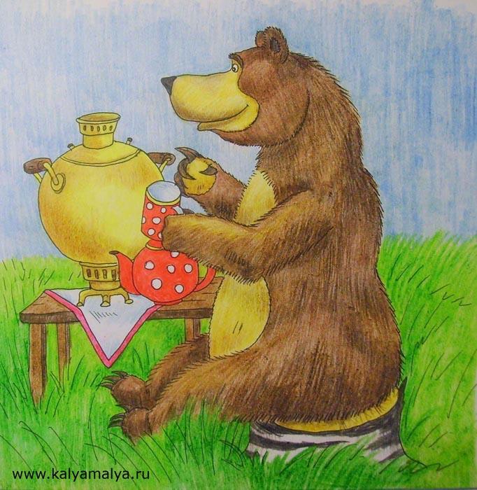 """Как нарисовать медведя из мультфильма """"Маша и медведь""""?"""