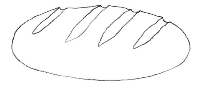 Раскраска картинка хлеб