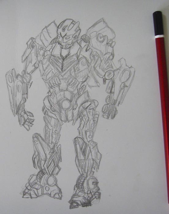 Нарисуйте конечности трансформера
