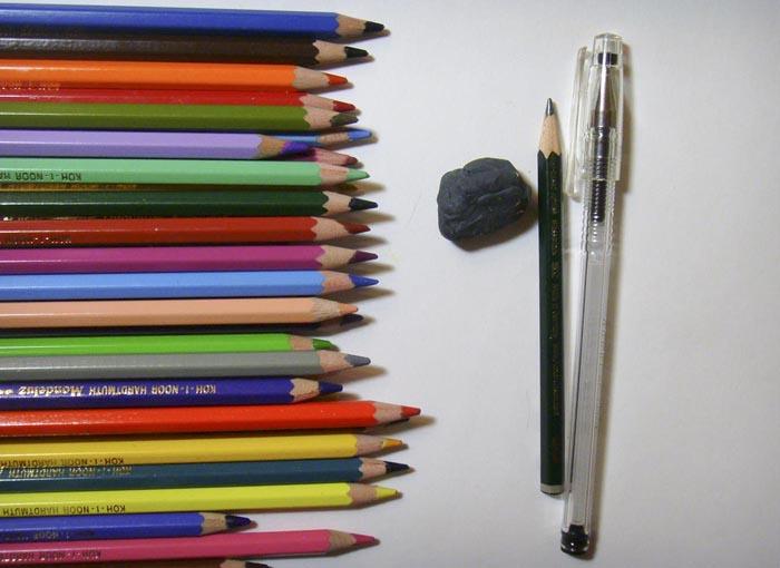 Приготовьте всё, что нужно для рисования