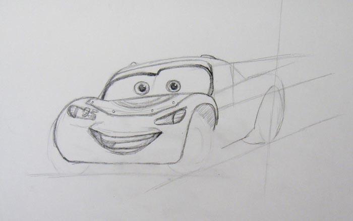Прорисуйте нижнюю часть автомобиля