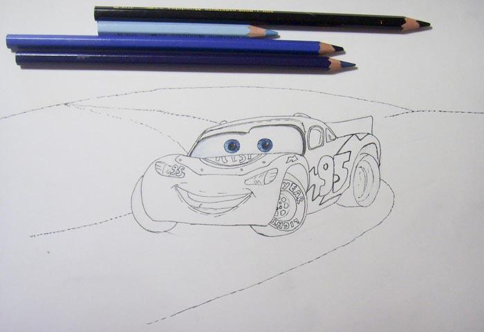 Раскрасьте глаза автомобиля и слегка затонируйте лобовое стекло