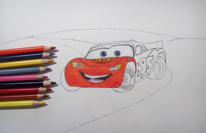 Раскрасьте нижнюю часть машины