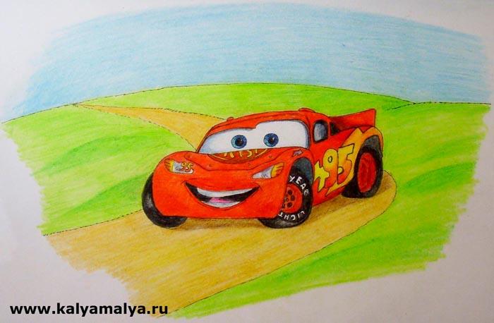 """Как нарисовать машинку из мультфильма """"Тачки""""?"""