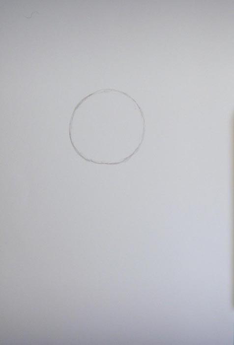 Изобразите небольшой круг