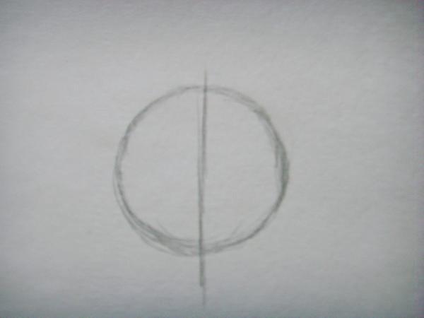 Разделите круг на две половины
