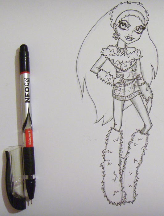 Ручкой аккуратно обведите карандашные линии