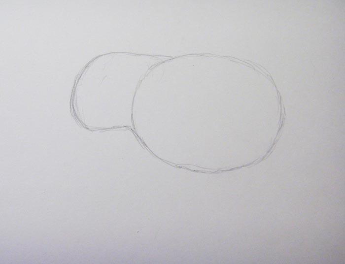 Изобразите очертания головы слона