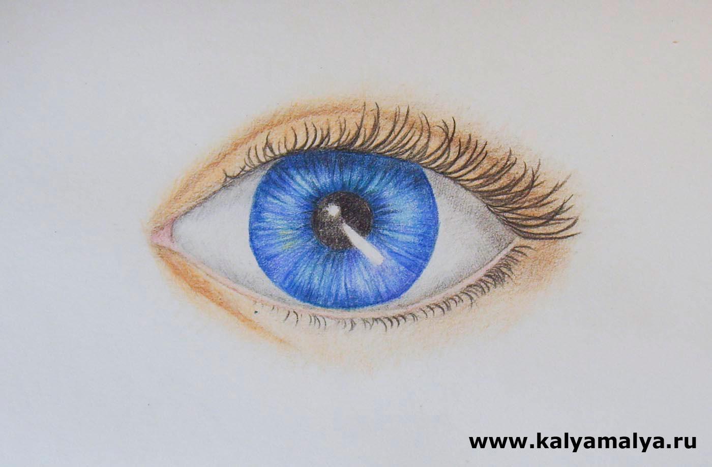 Как рисовать глаз пошаговое фото