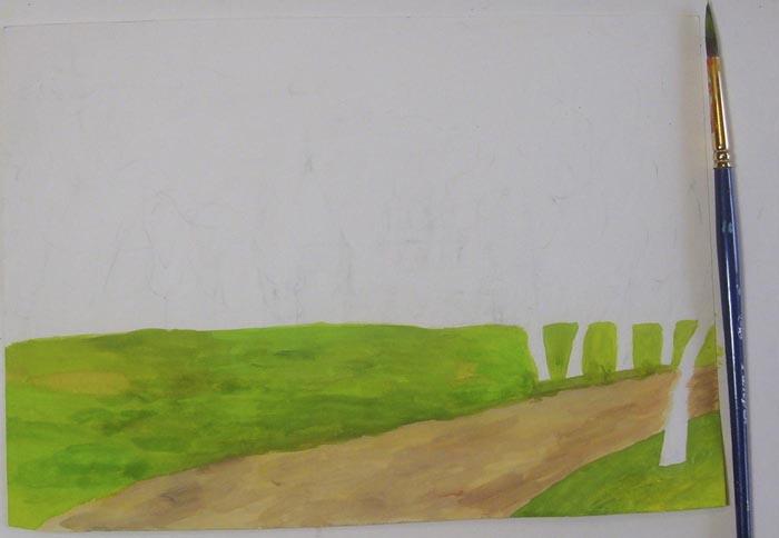 Раскрасьте траву