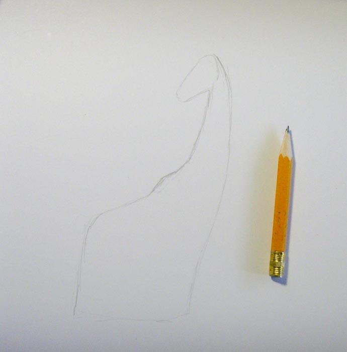 Нарисуйте очертания тела животного