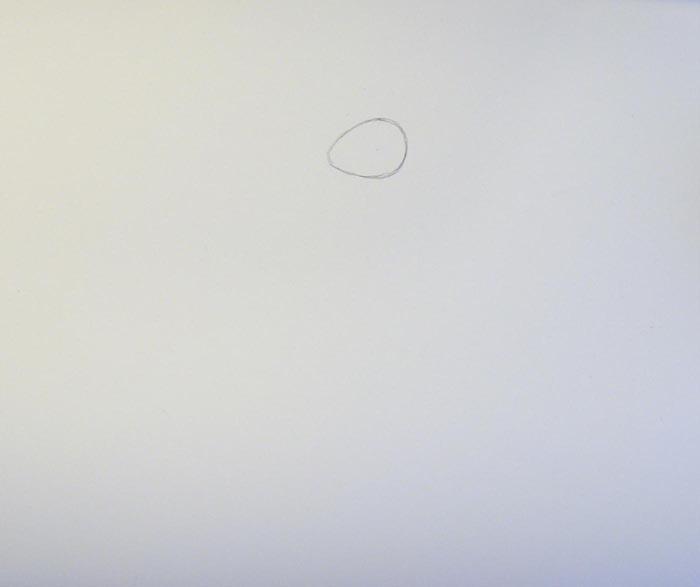 Нарисуйте голову дракона, которая по своей форме напоминает яйцо
