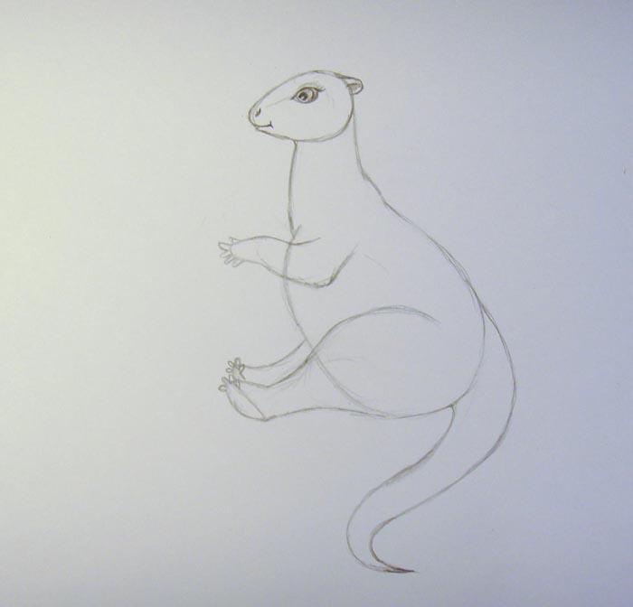Нарисуйте мордочку более детально, изобразите глаз, рот, ноздрю и ухо