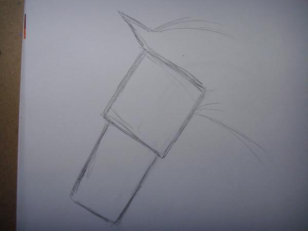 У верхнего угла квадрата изобразите ухо животного