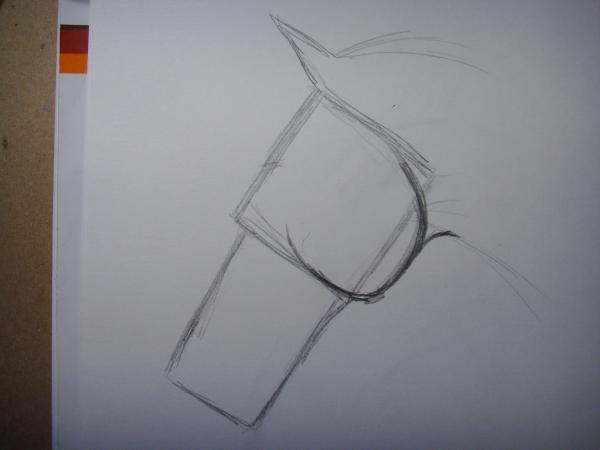 Прорисуйте в зоне квадрата очертания щеки лошади