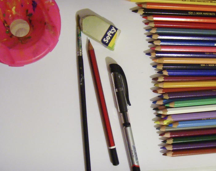 Что потребуется для рисования дома из брёвен