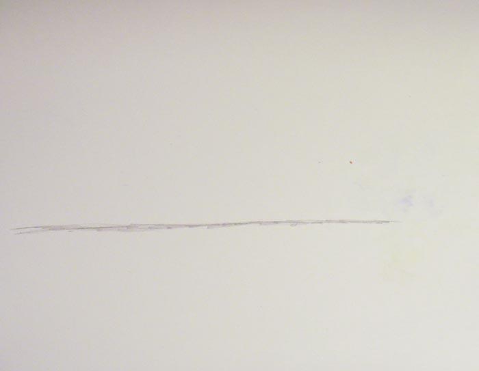 Нарисуйте карандашом горизонтальную линию