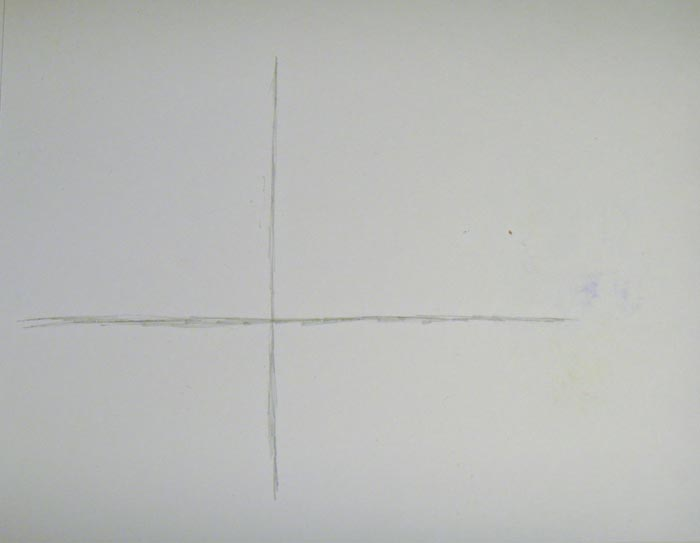 Прочертите вертикальную линию