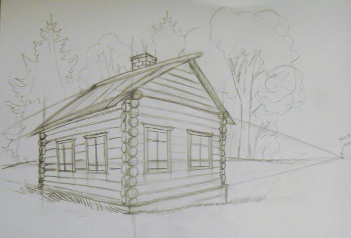 Нарисуйте окружающий пейзаж