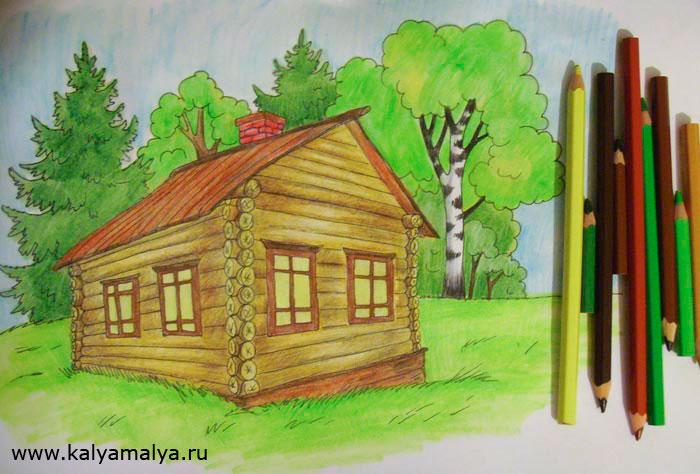 Акварельными карандашами проработайте рисунок еще раз, сделав оттенки более насыщенными и выразительными