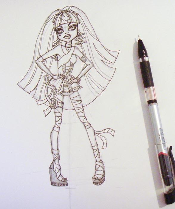 Ручкой обведите рисунок