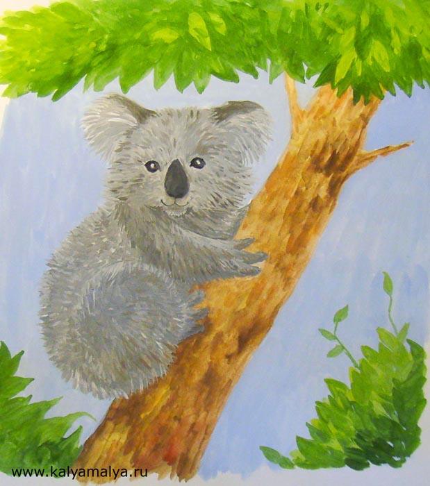 Как нарисовать коалу?
