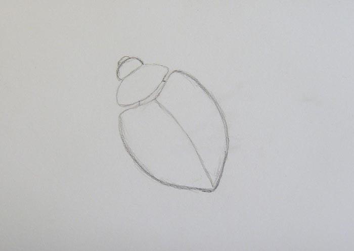 Нарисуйте голову божьей коровки
