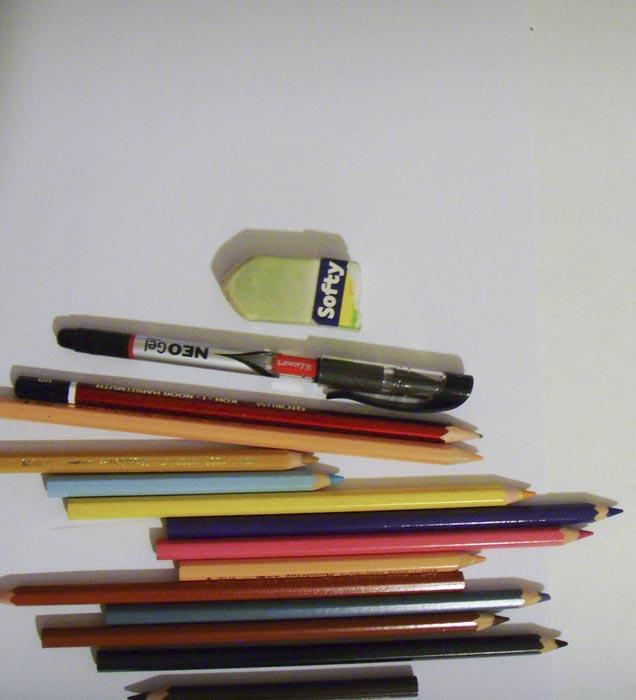 Приготовьте бумагу и инструменты для рисования человека