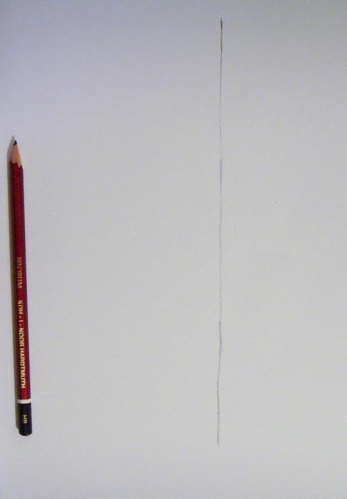Нарисуйте карандашом прямую линию