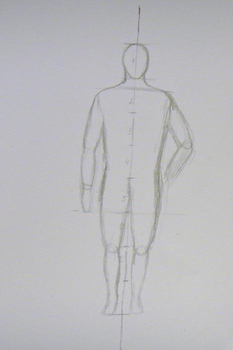 Нарисуйте обе ноги