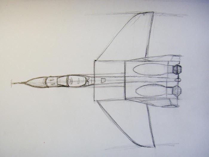 Изобразите крылья самолета